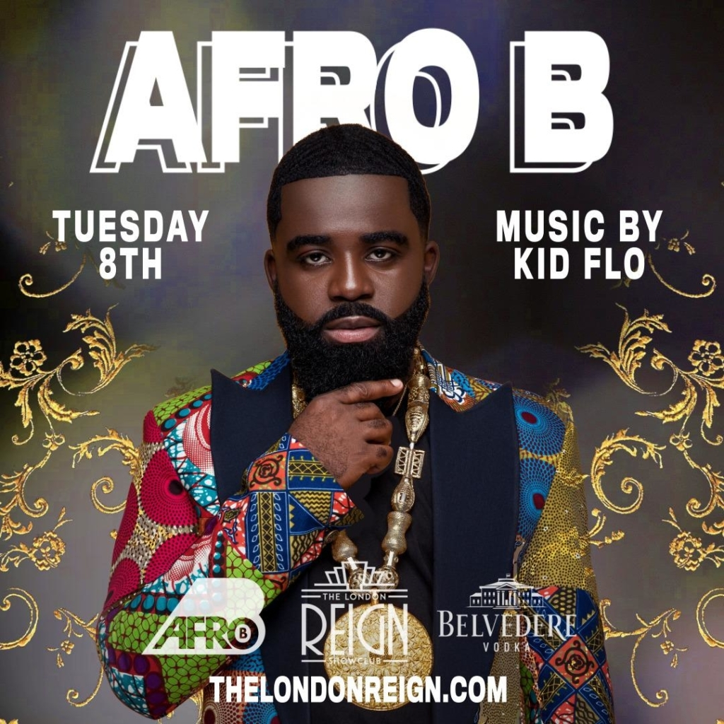 afro b at reign show club