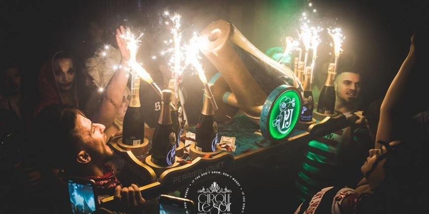 bottle price menu at cirque le soir London